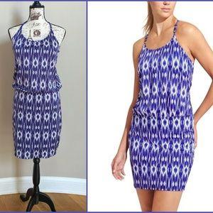Athleta M Aqualuxe Print Swim Dress Amalfi Ikat